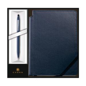 Набор: Ручка шариковая Cross Click Midnight Blue и Записная книжка Cross Journal Midnight Blue, A5,
