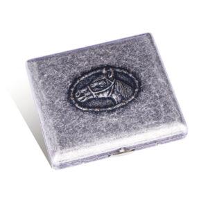 Портсигар S.Quire, сталь, серебристый  цвет с гравировкой,  89*85*20 мм 56449