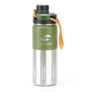 "Термобутылка Stinger, 0,5 л, сталь/пластик, ""Зеленый мох"" 56415"