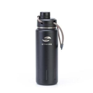 "Термобутылка Stinger, 0,71 л, сталь/пластик, ""черный карбон"" 56412"