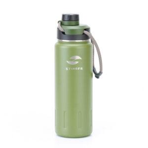 "Термобутылка Stinger, 0,71 л, сталь/пластик, ""зеленый мох"" 56413"