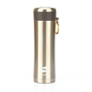 Термокружка Stinger, 0,42 л, сталь/пластик, золотой матовый, с ситечком 52907