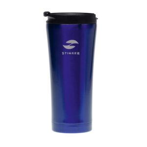 Термокружка Stinger, 0,45 л, сталь/пластик, синий глянцевый 52906
