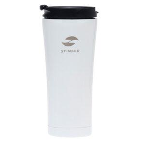 Термокружка Stinger, 0,45 л, сталь/пластик, белый глянцевый 56411
