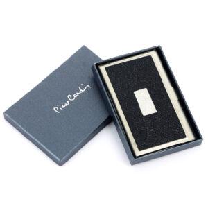 Визитница Pierre Cardin PC1139black. Корпус - металл, иск.кожа. Цвет - черный 56463
