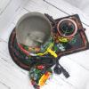 Самовар 3 л. с чайником и подносом Матрёшка Хохлома 51304 109124