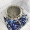 Самовар 3 л. с подносом и чайником Жостово на синем форма Желудь 57403 109130