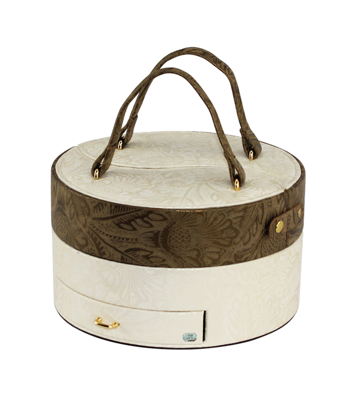 Шкатулка для украшений Jardin D'Ete, цвет бело-золотой 53248