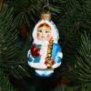 Игрушка на ёлку Снегурочка с косой средняя (стекло) 51202