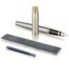 Перьевая ручка Parker IM Core - Brushed Metal GT 1931649 36438