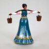Статуэтка Казачка с коромыслом 15,5 см, полноцвет (ручная роспись) 54163 87161