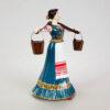 Статуэтка Казачка с коромыслом 15,5 см, полноцвет (ручная роспись) 54163 87165