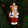 Игрушка на ёлку Медведь в тельняшке (стекло) 51152 62441
