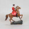 Статуэтка Казак на гнедом коне 15 см, полноцвет (ручная роспись) 55223