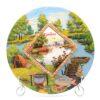 Тарелка Отдых на природе — Рыбак на реке Кубань 50263