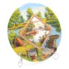 Тарелка Отдых на природе — Рыбак на реке Кубань 50263 57158